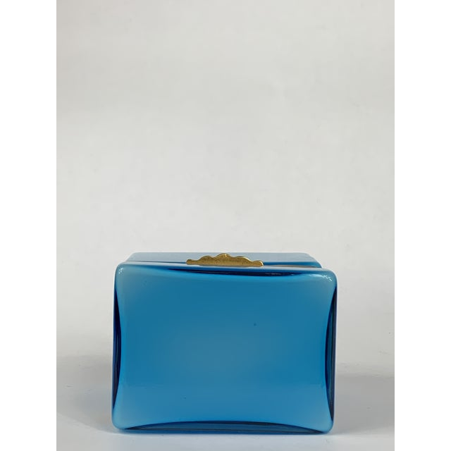 Early 20th Century Early 20th Century Turquoise Murano Casket Box For Sale - Image 5 of 9