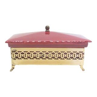 Mid-Century Chinoiserie Ceramic Box For Sale
