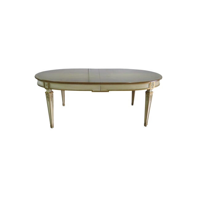 Swedish Paint Decorated Dining Table For Sale