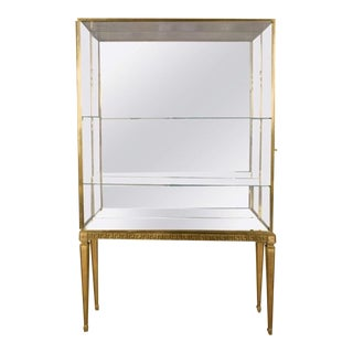 Maison Jansen Chicest Gold Bronze Vitrine For Sale