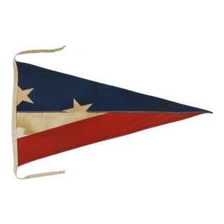 1980's Vintage Signal Flag in Shadow Box For Sale