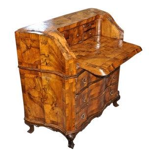 19th Century Italian Figured Walnut Desk of Smaller Size