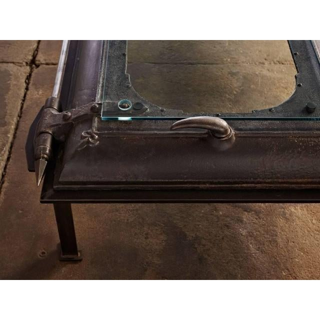 Cast Iron, Boiler Room Door Turned Coffee Table - Image 4 of 4