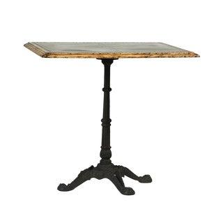 Zinc Square Bistro Table For Sale