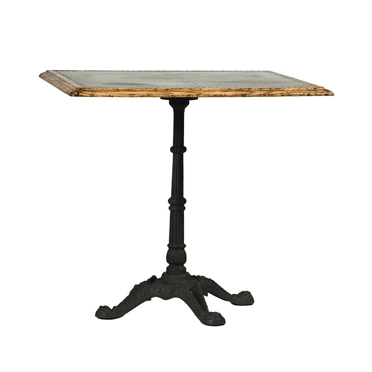 Charmant Zinc Square Bistro Table