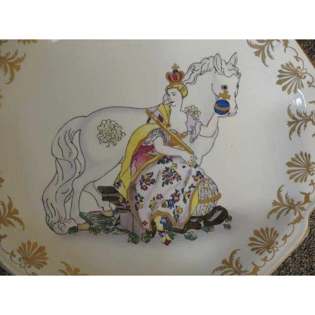 Chelsea House Inc Chelsea House Paint Decorated Wall Plates - Set of 4 For Sale - Image 4 of 6