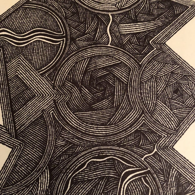 Abstract Original Ink Abstract Drawing Outsider Mitch Michener For Sale - Image 3 of 6