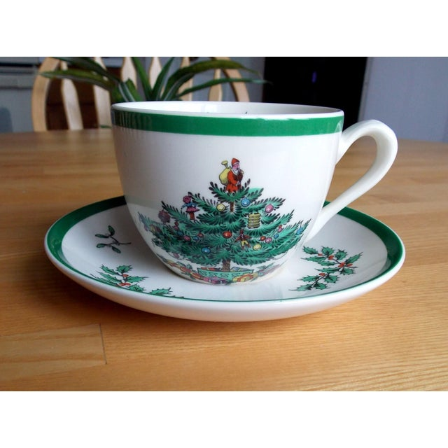 Spode Christmas Tree History: Authentic Spode 'Christmas Tree' Cup & Saucer