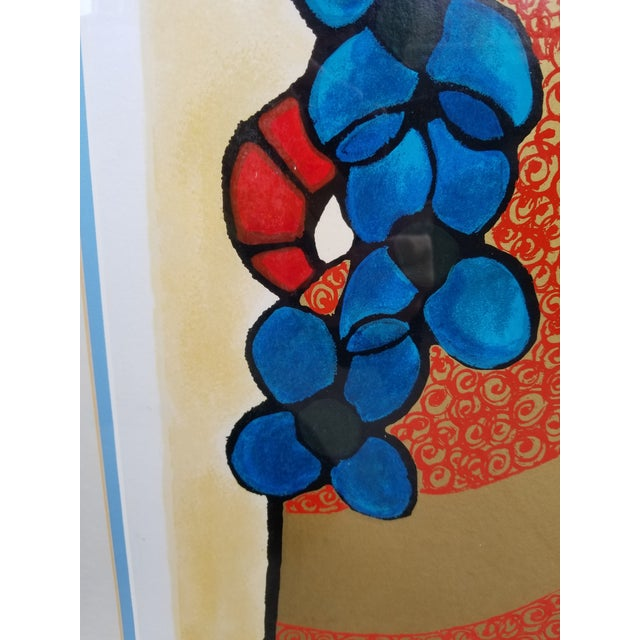 """Blue Flowers"" Serigraph by Avi Ben Simhon For Sale In New York - Image 6 of 13"
