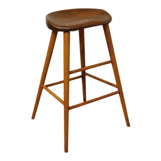 Thos. Moser Studio Crafted Cherry High Stool For Sale