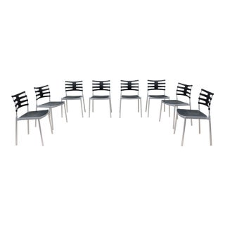 Modern Danish Kasper Salto for Fritz Hansen Ice Outdoor Dining Chairs - Set of 8 For Sale