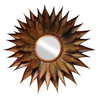 Copper Sunburst Mirror