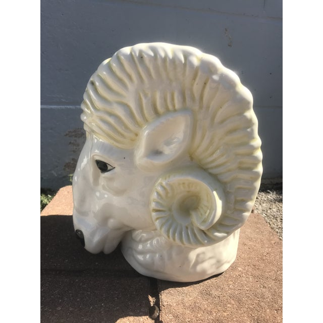 1950's Vintage Ram's Head Ceramic Planter For Sale - Image 4 of 7