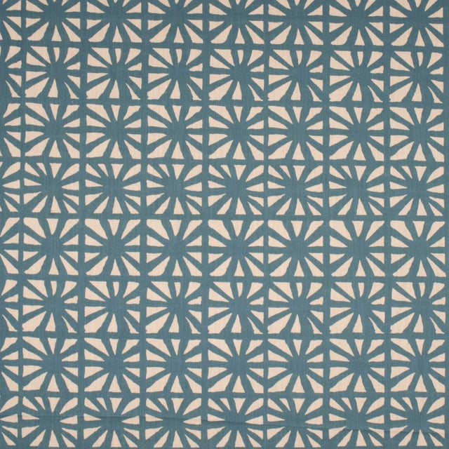 Mid-Century Modern Justina Blakeney Monterey Printed Cotton and Linen Fabric, Riviera For Sale - Image 3 of 3