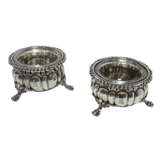 Antique American Sterling Silver Master Salt Cellars - a Pair For Sale