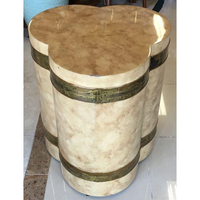 1970s 1970s Mid-Century Modern Mastercraft Bernard Rohe Decorated Drum Table For Sale - Image 5 of 13