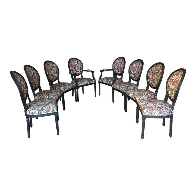 Restoration Hardware French Dining Chairs - Set of 8 - Image 1 of 11