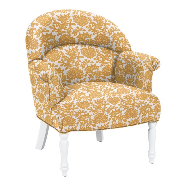 Casa Cosima LuRu Home for Casa Cosima Napolean III Chair, Flower, Cumin For Sale - Image 4 of 4
