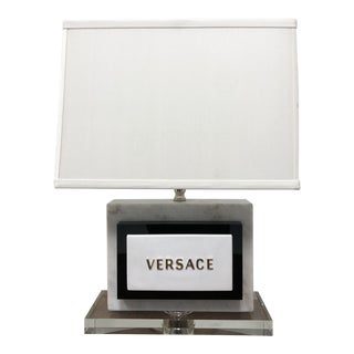 Versace Marble and Acrylic Lamp For Sale