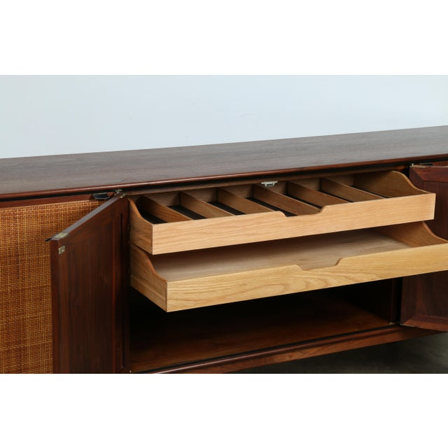 Walnut Cane Credenza by Founders - Image 6 of 11