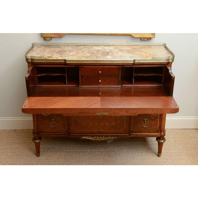 Louis XVI 19c. French Parquetry Secretaire / Commode For Sale - Image 3 of 10