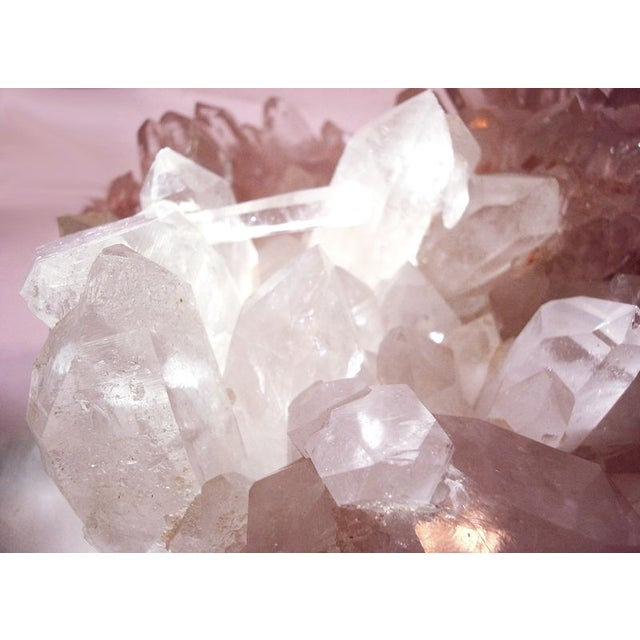 Large Quartz Crystal Cluster with Stand - Image 5 of 7