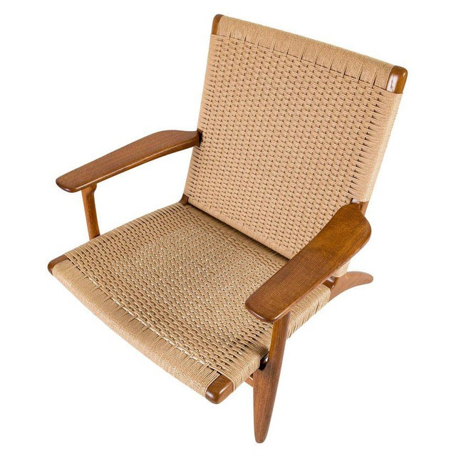 Wood Hans Wegner Ch-25 Lounge Chair For Sale - Image 7 of 10