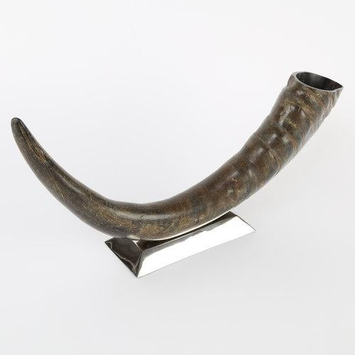1970's VINTAGE SCULPTURAL WATER BUFFALO HORN ACCESSORY For Sale - Image 4 of 8