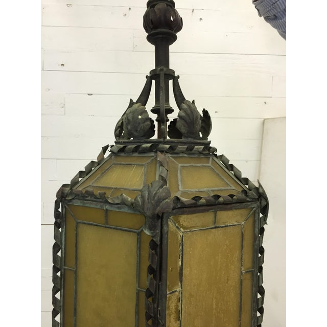 American 1920s American Copper & Bronze Lantern For Sale - Image 3 of 6
