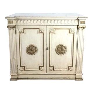 Italian Renaissance Style White & Gold Sideboard