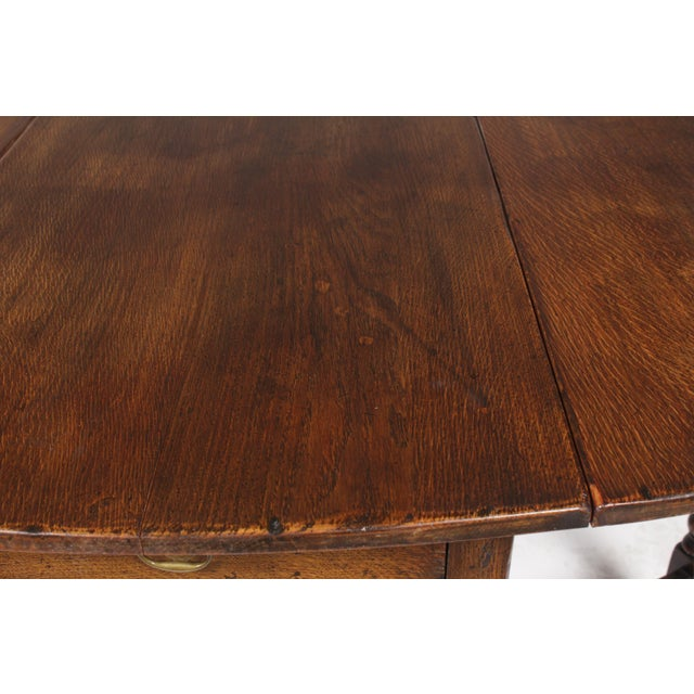 1920s English Jacobean Gateleg Table For Sale - Image 10 of 11