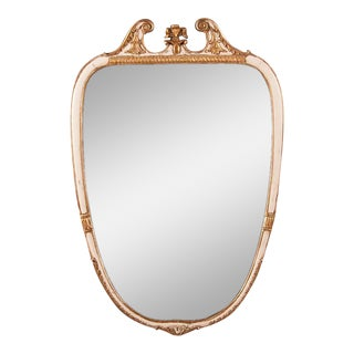 1940s Vintage Italian Neoclassical Style Painted Mirror For Sale