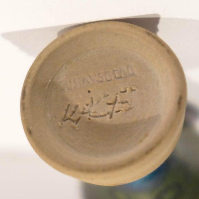 Ceramic Miniature Terra Spirea Farsta Vase by Wilhelm Kage For Sale - Image 7 of 7