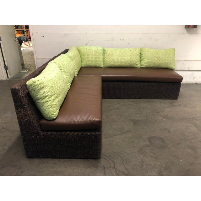 Two Piece Sectional From Walter's Wicker Works For Sale - Image 4 of 10