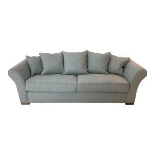 Restoration Hardware Camelback Spruce Belgian Linen Upholstered Sofa