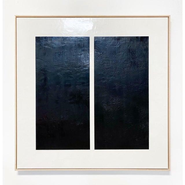 "Encaustic Exclusive John O'Hara ""Midnight Window, 1"" Encaustic Painting For Sale - Image 7 of 7"