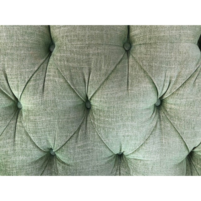 1980s Vintage Tufted Sleigh Back Sofa For Sale In San Francisco - Image 6 of 8