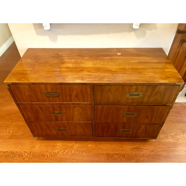 Campaign Dixie Campaigner Six Drawer Dresser For Sale - Image 3 of 9