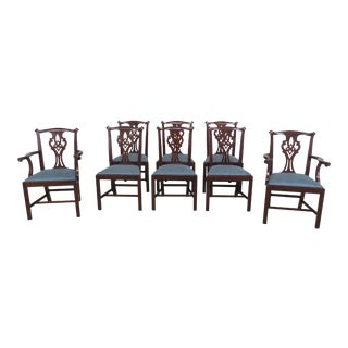 Henkel Harris Mahogany Dining Room Chairs - Set of 8 For Sale