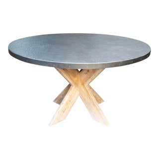 "54"" Austin Table with Zinc Top For Sale"