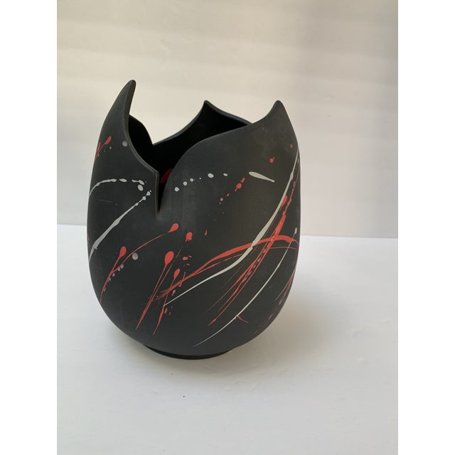 1990s Pomo Snars 1990 Ceramic Vase Postmodern Vessel Centerpiece For Sale - Image 5 of 8