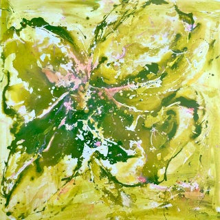 'Ivy Wild' Mixed Media Painting For Sale
