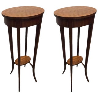 Pair of Italian Mahogany Antique Style Stands For Sale