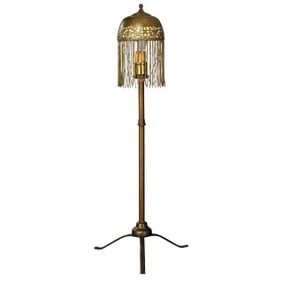 Three Legged Moroccan Brass Table Lamp For Sale