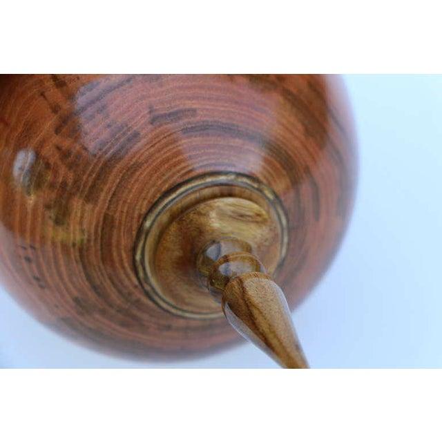 Robert Mascoll Stunning Hand-Turned Honey Locust Vase by John Mascoll For Sale - Image 4 of 6