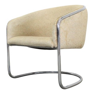 Mid-Century Modern Tubular Chrome Accent Chair by Thonet Industries For Sale