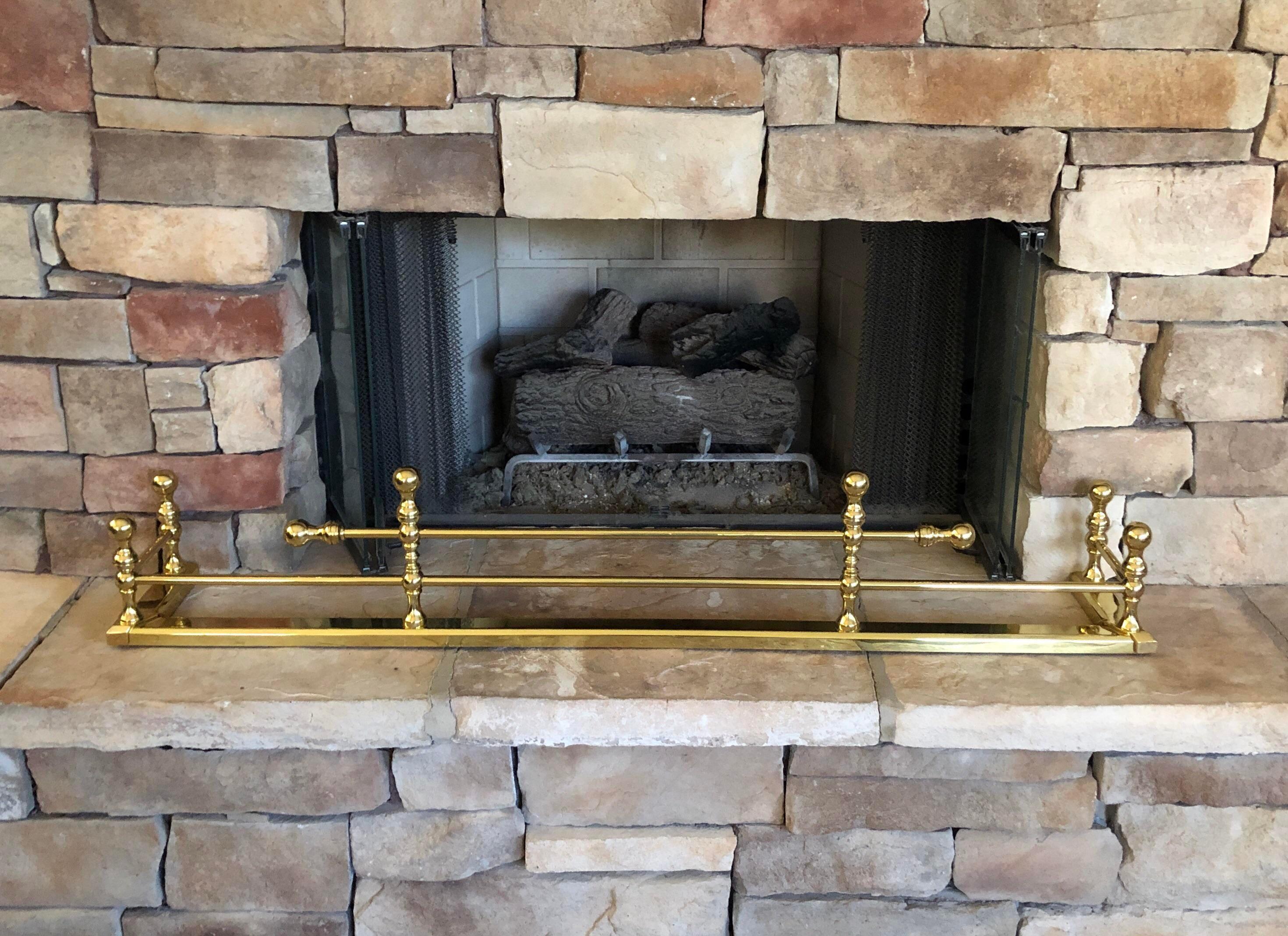 Antique Brass Fireplace Fender Chairish