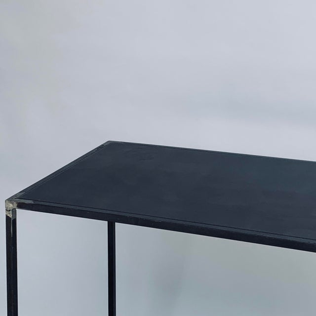 2020s Filiforme' Patinated Steel Minimalist Side Tables by Design Frères - a Pair For Sale - Image 5 of 7