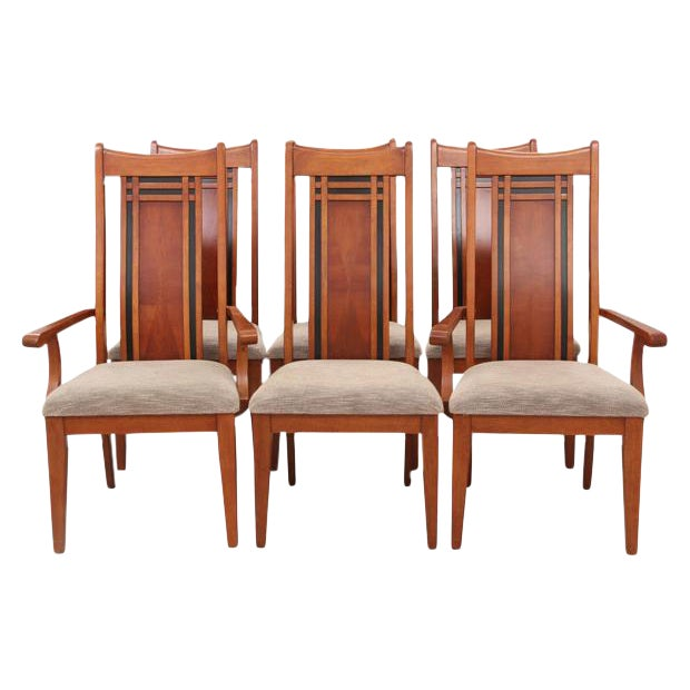 Chinoiserie Style Dining Chairs, S/6 - Image 1 of 5