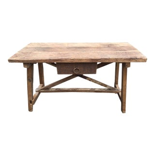 Trestle Table, Spain, 19th Century For Sale